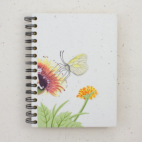 Large Notebook Butterfly Natural White