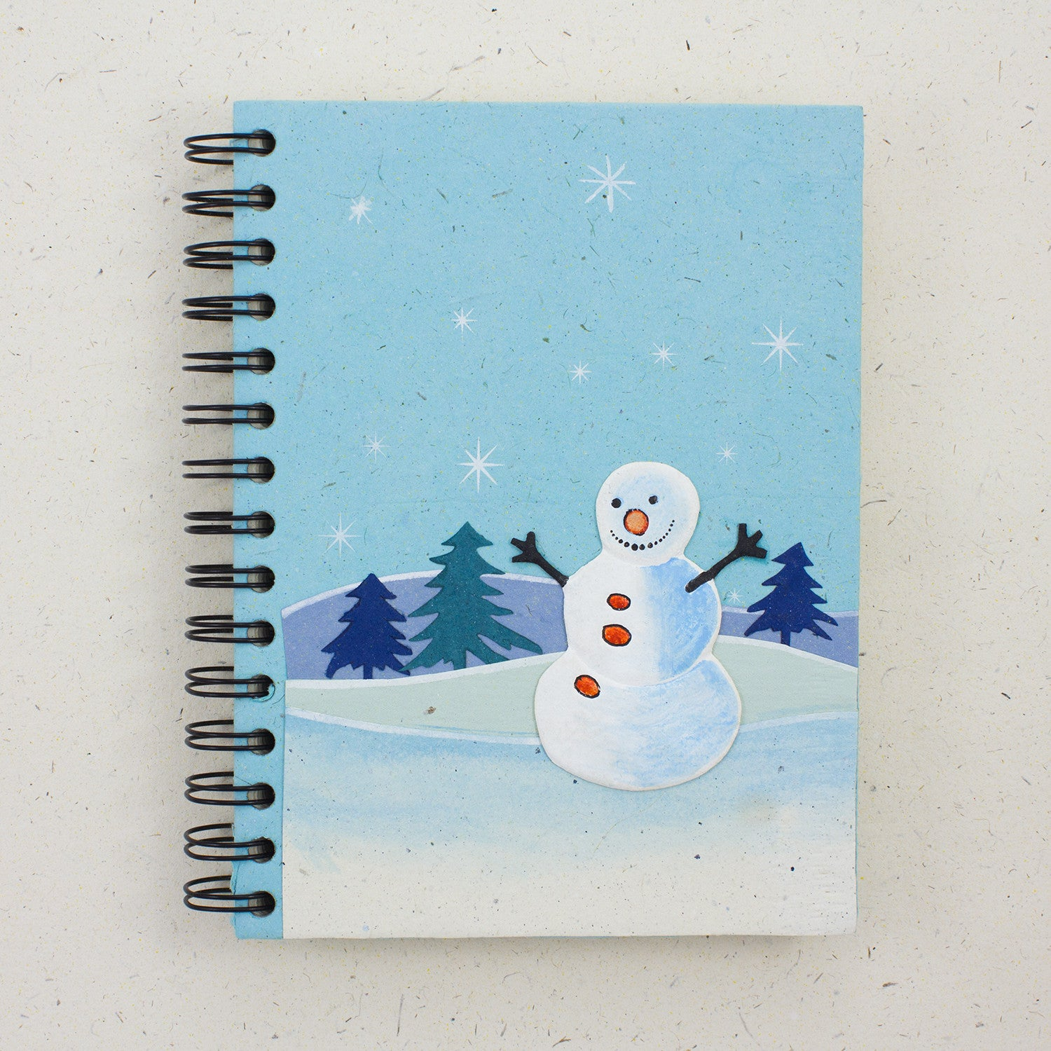 Large Notebook Curry the Snowman Robin's Egg Blue