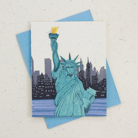 Single Greeting Card Statue of Liberty Natural White