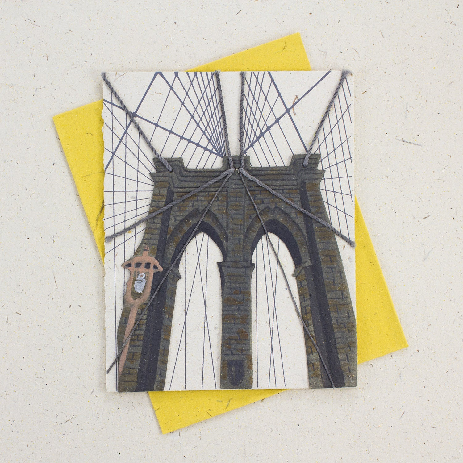 Single Greeting Card Brooklyn Bridge Natural White