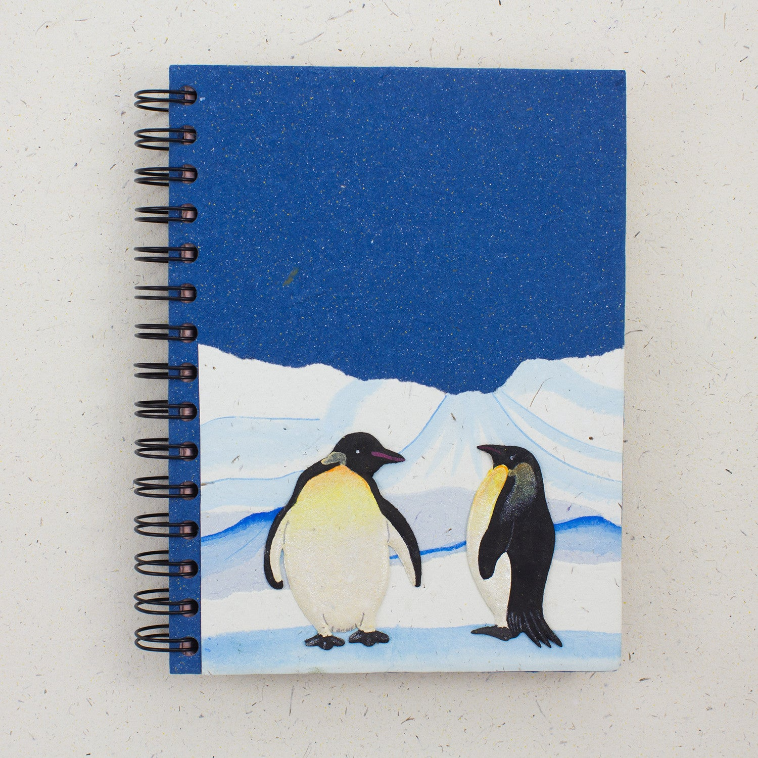 Large Notebook Penguins Blue