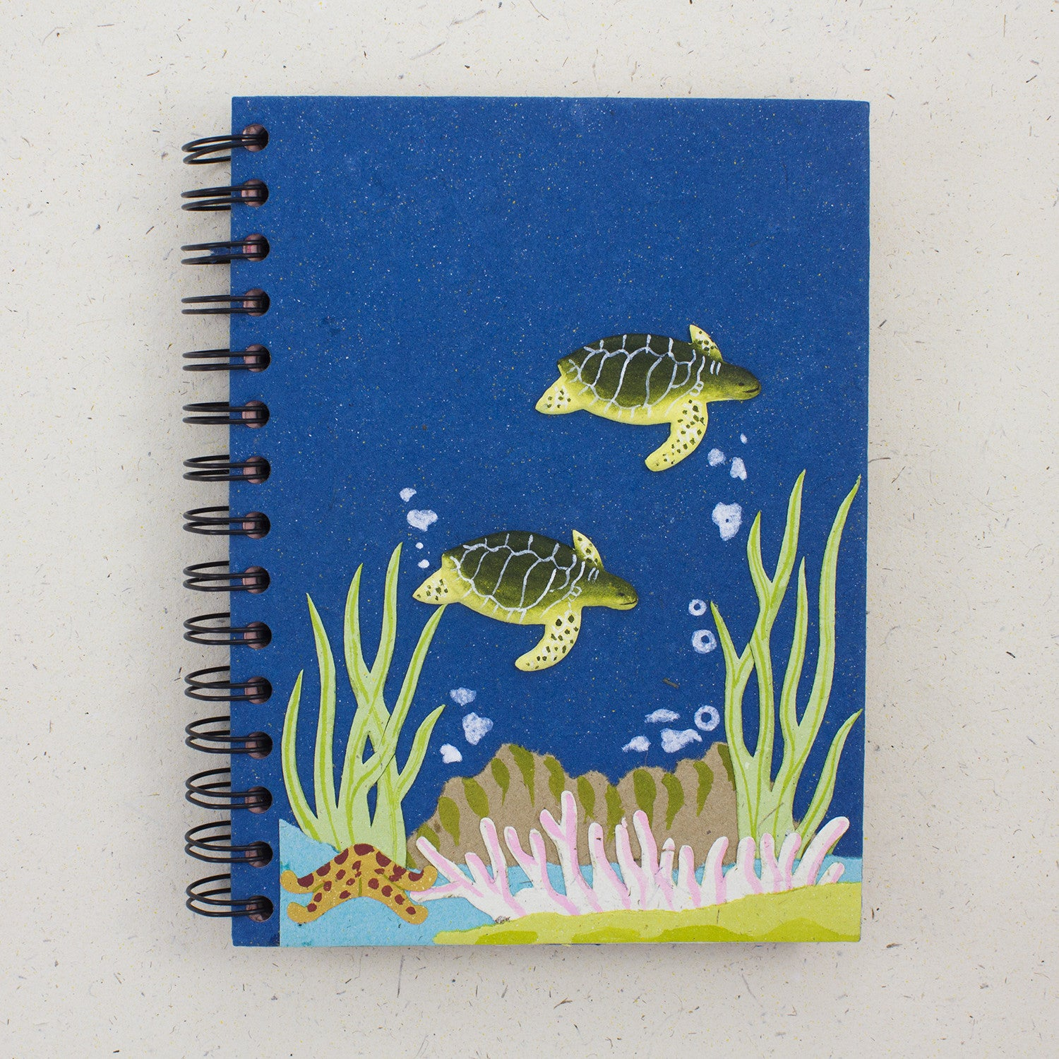 Large Notebook Turtles Blue
