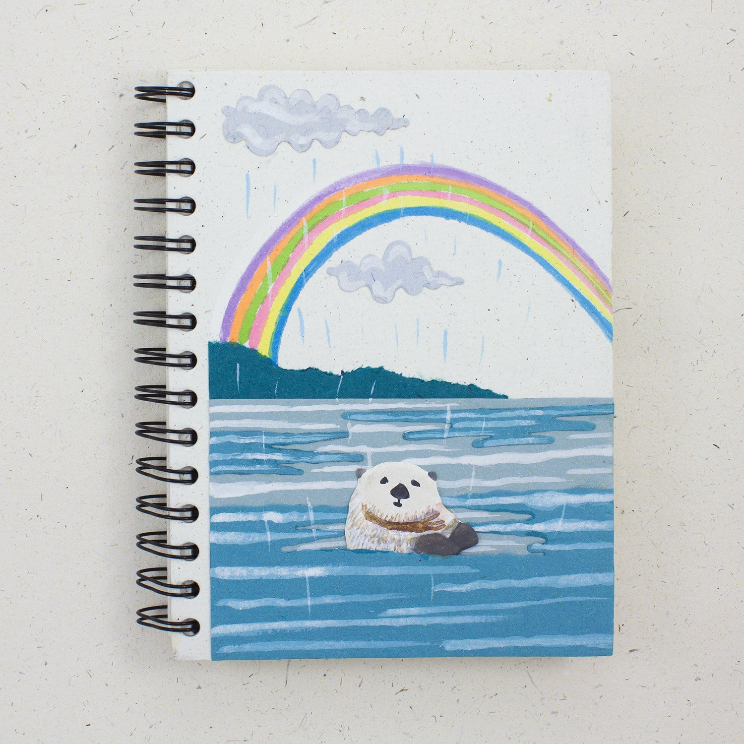 Large Notebook Sea Otter Natural White