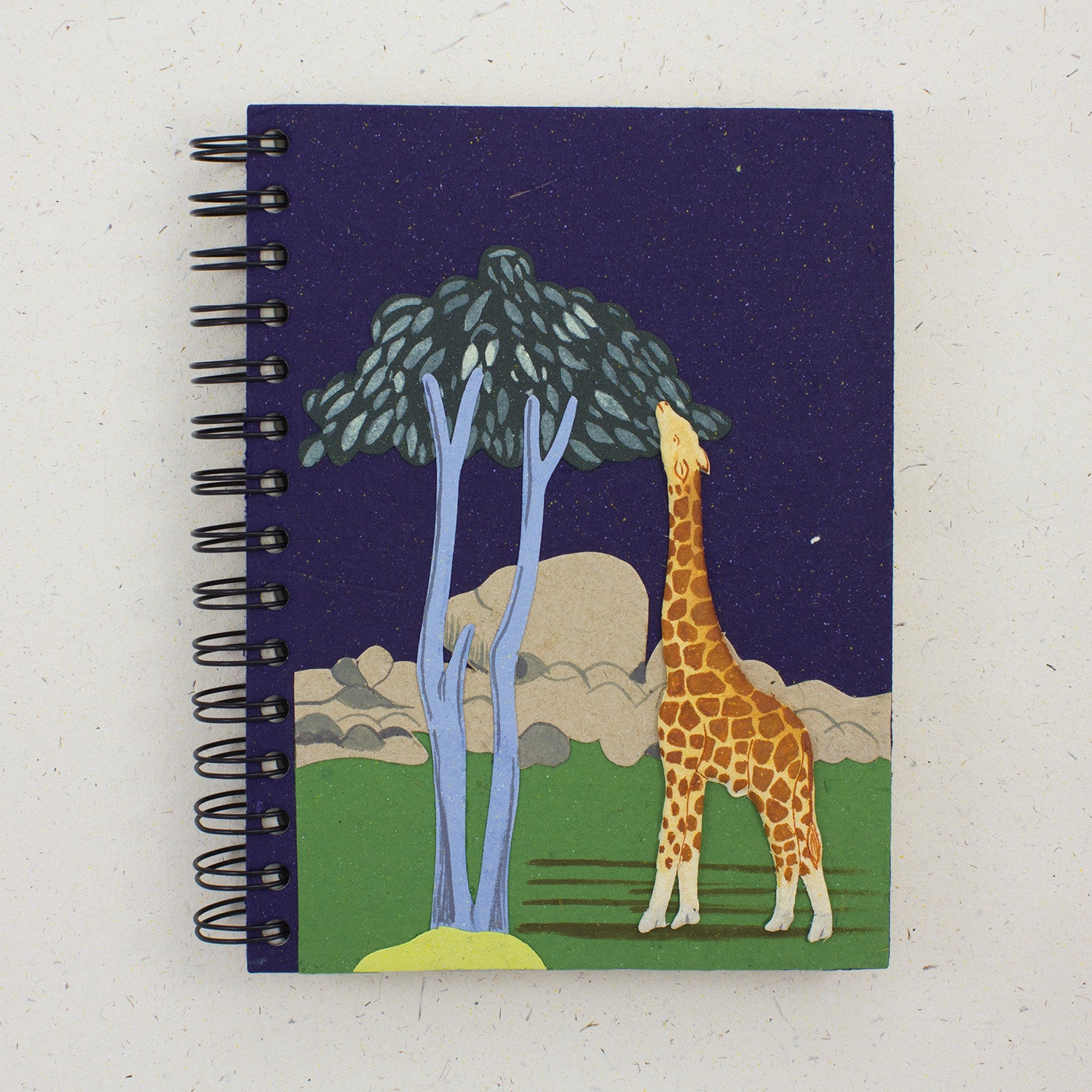 Large Notebook Giraffe Dark Blue