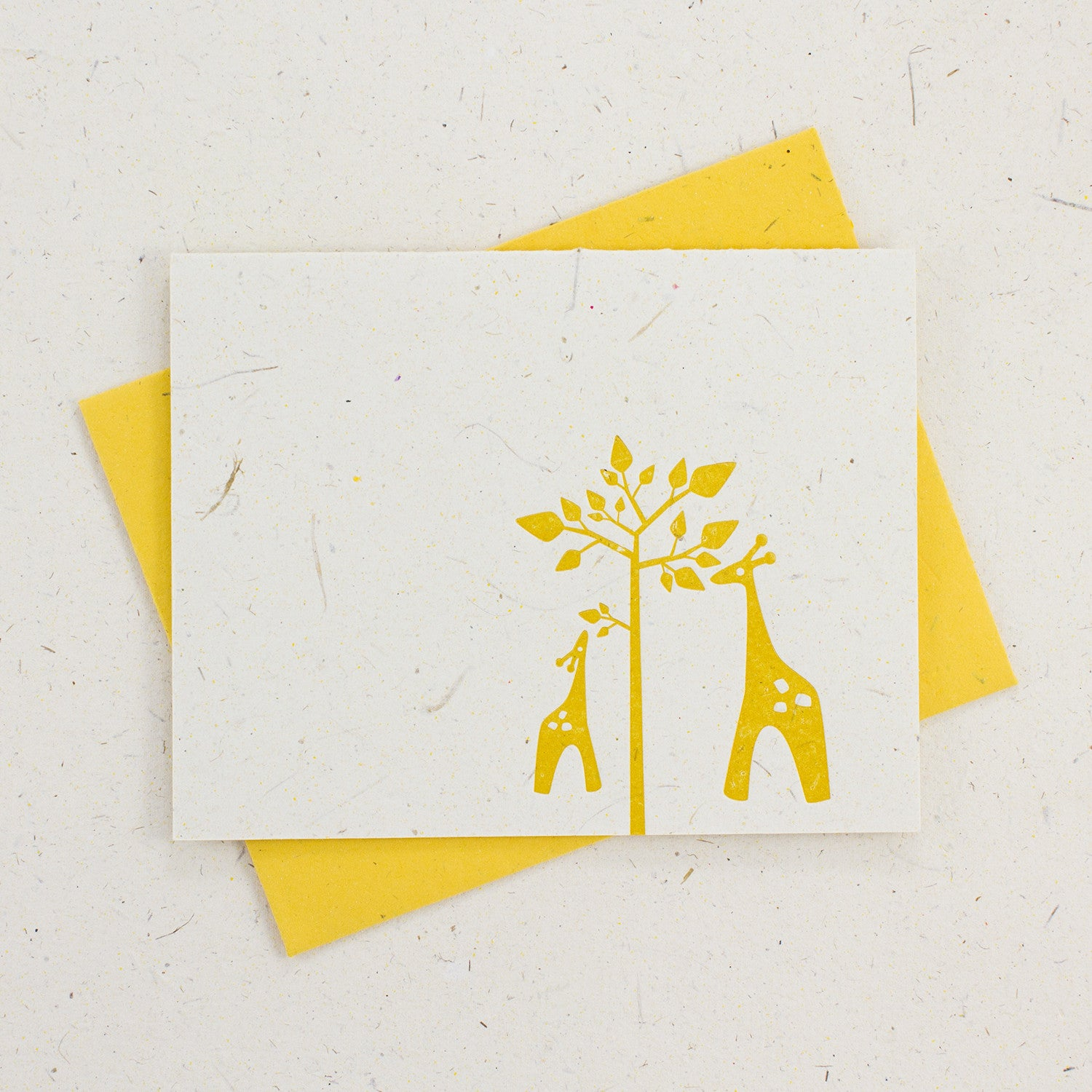 Letter Press Card Set Giraffes (4pc)