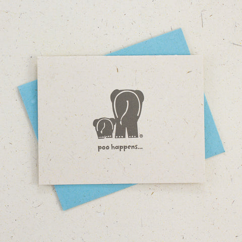 Single Letter Press Card Poo Happens