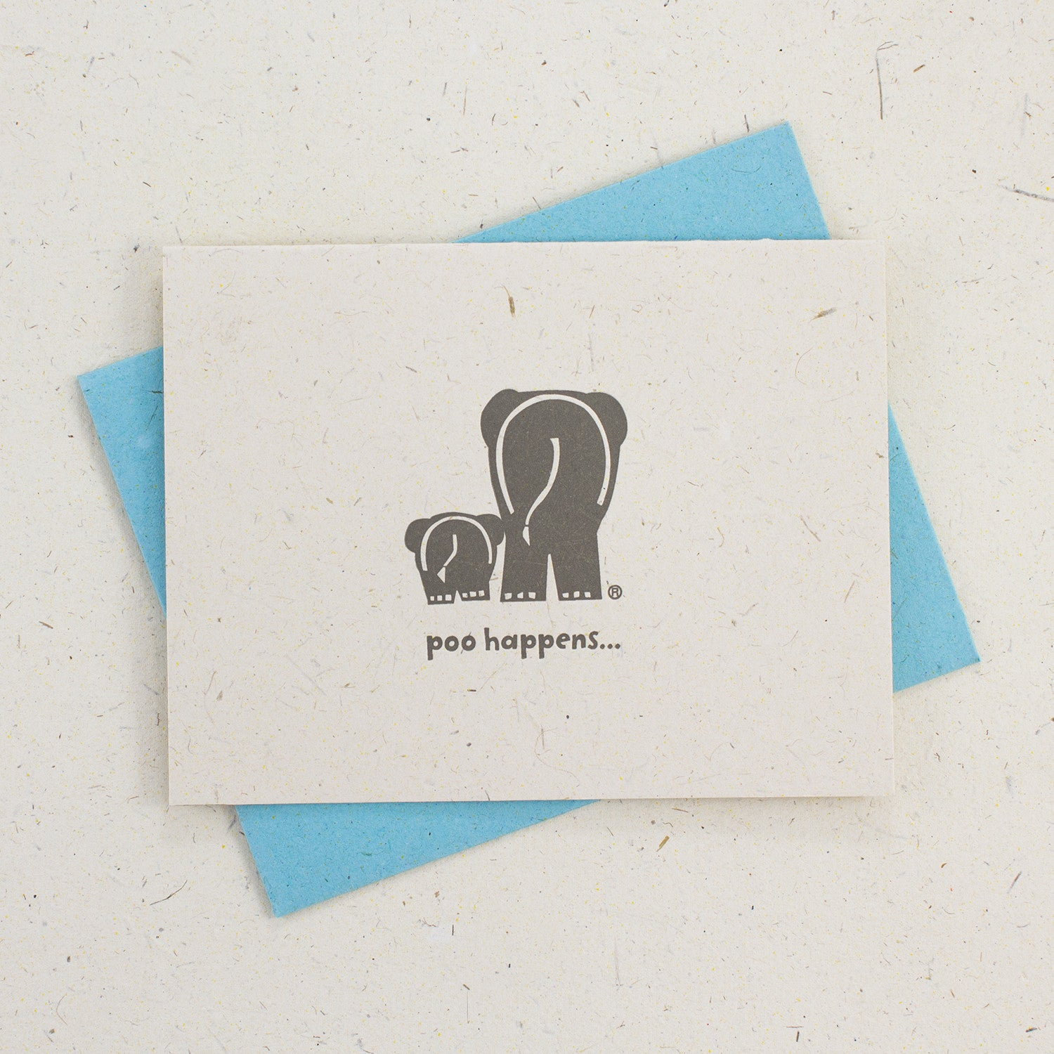 Letter Press Card Set Poo Happens (4pc)