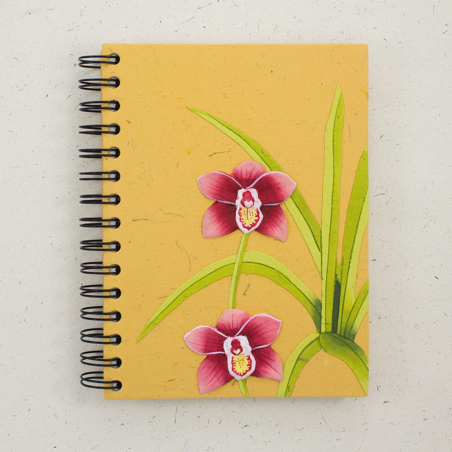 Large Notebook Sweet Orchid Flower Yellow