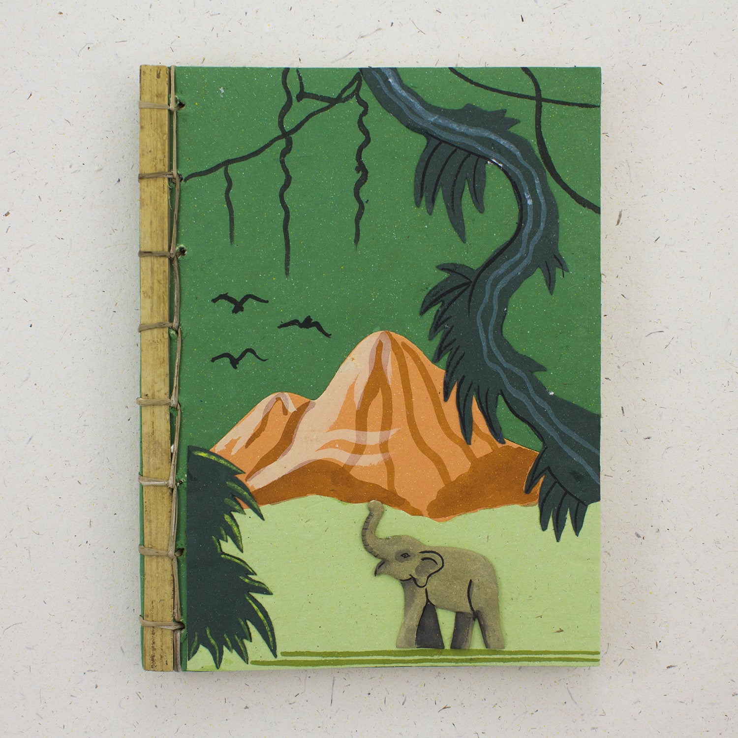 Bamboo Spine Book Dark Green