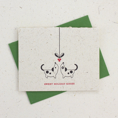 Letter Press Card Set Sweet Holiday Kisses (4pc)