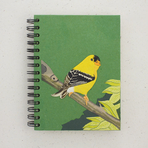 Large Notebook Goldfinch Dark Green