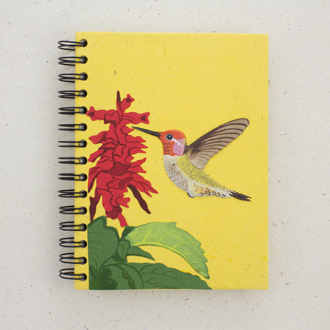 Large Notebook Hummingbird Yellow