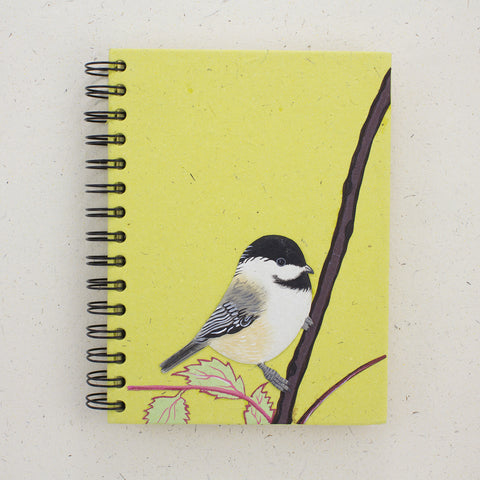 Large Notebook Chickadee Light Green