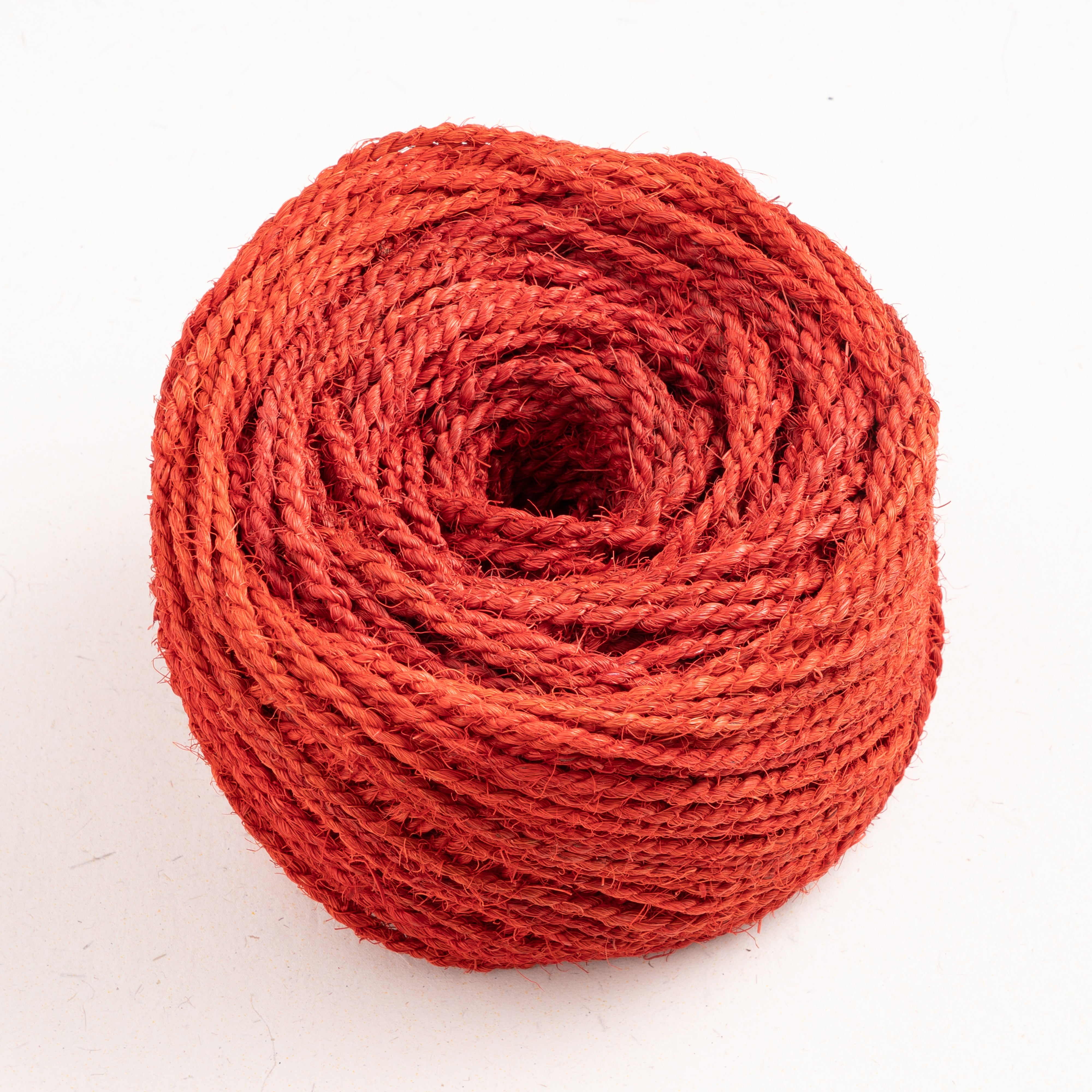 Coconut Fiber Rope Bobbin Red