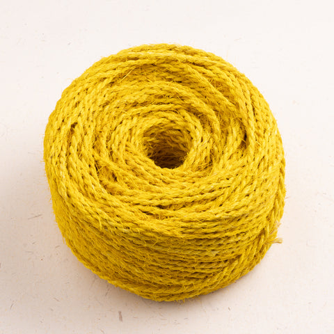 Coconut Fiber Rope Bobbin Yellow