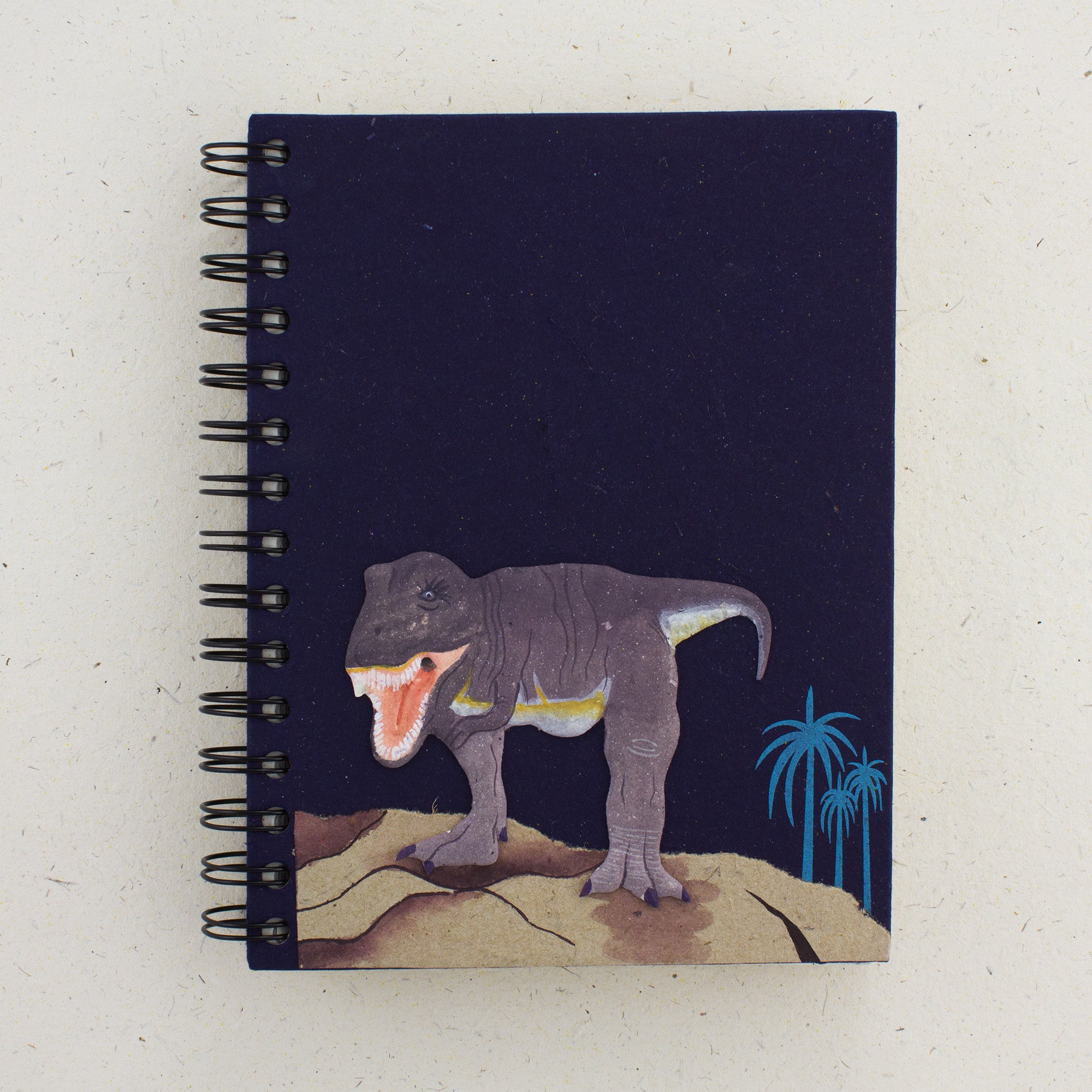 Large Notebook T-Rex Dark Blue