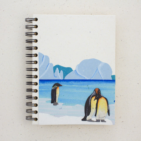 Large Notebook Penguins Natural White