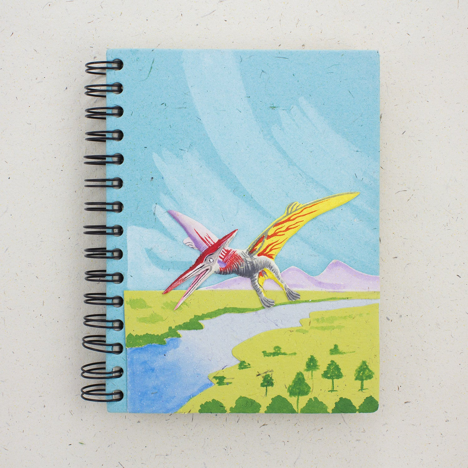 Large Notebook Pterodactyl Robin's Egg Blue