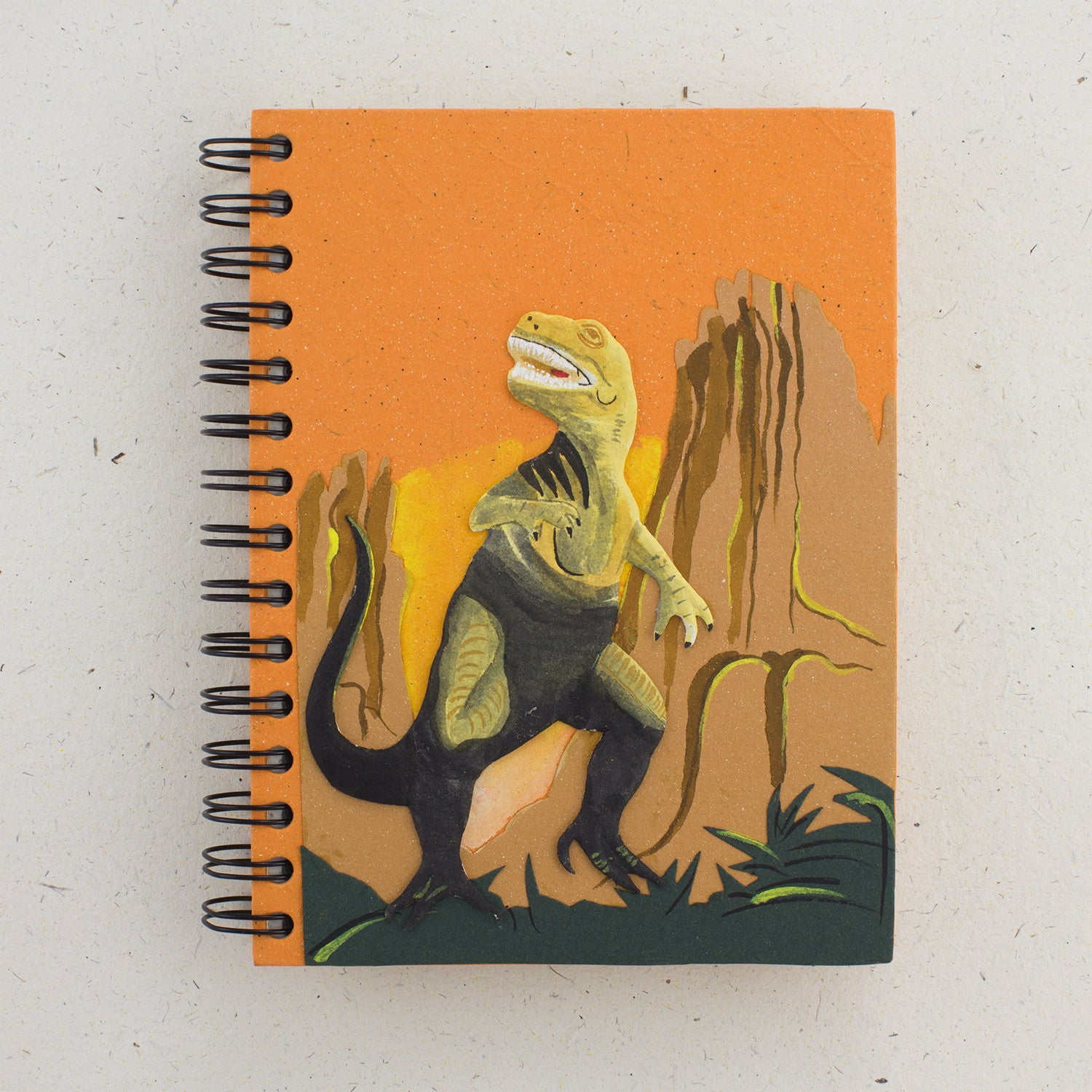 Large Notebook T-Rex Orange
