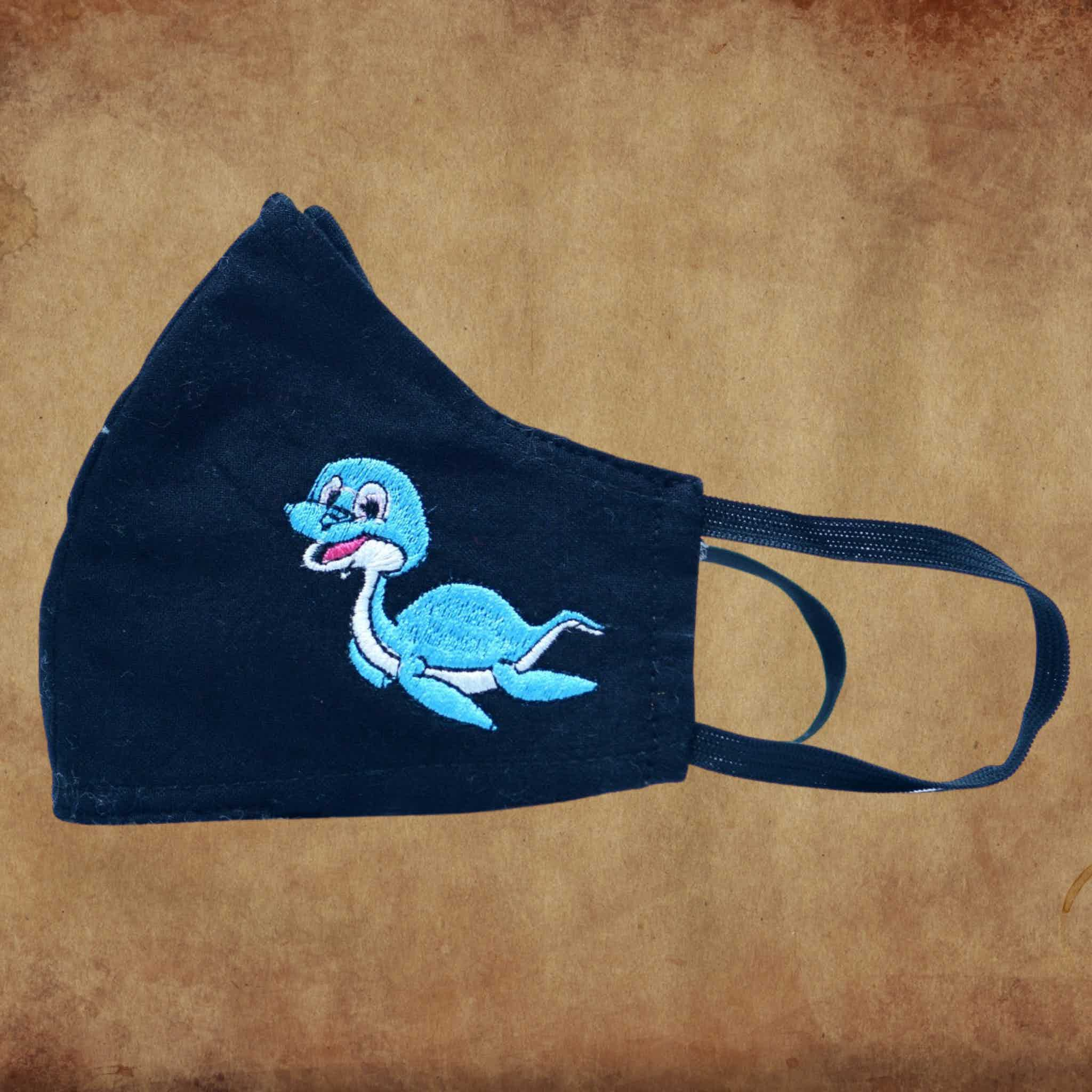 Children's Fabric Mask Plesiosaurus