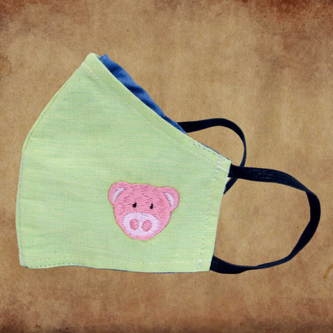 Children's Fabric Mask Pig