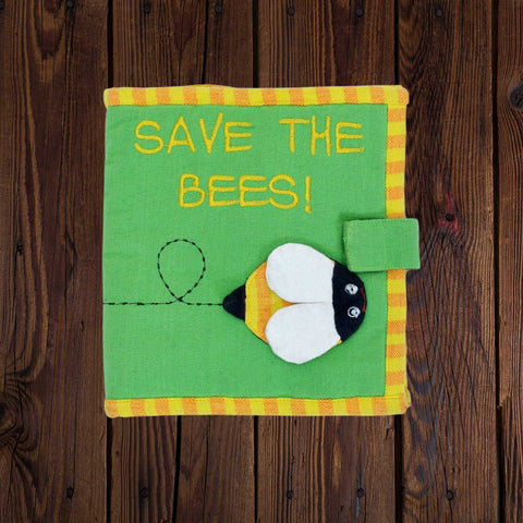 Fabric Kids Book - Save The Bees