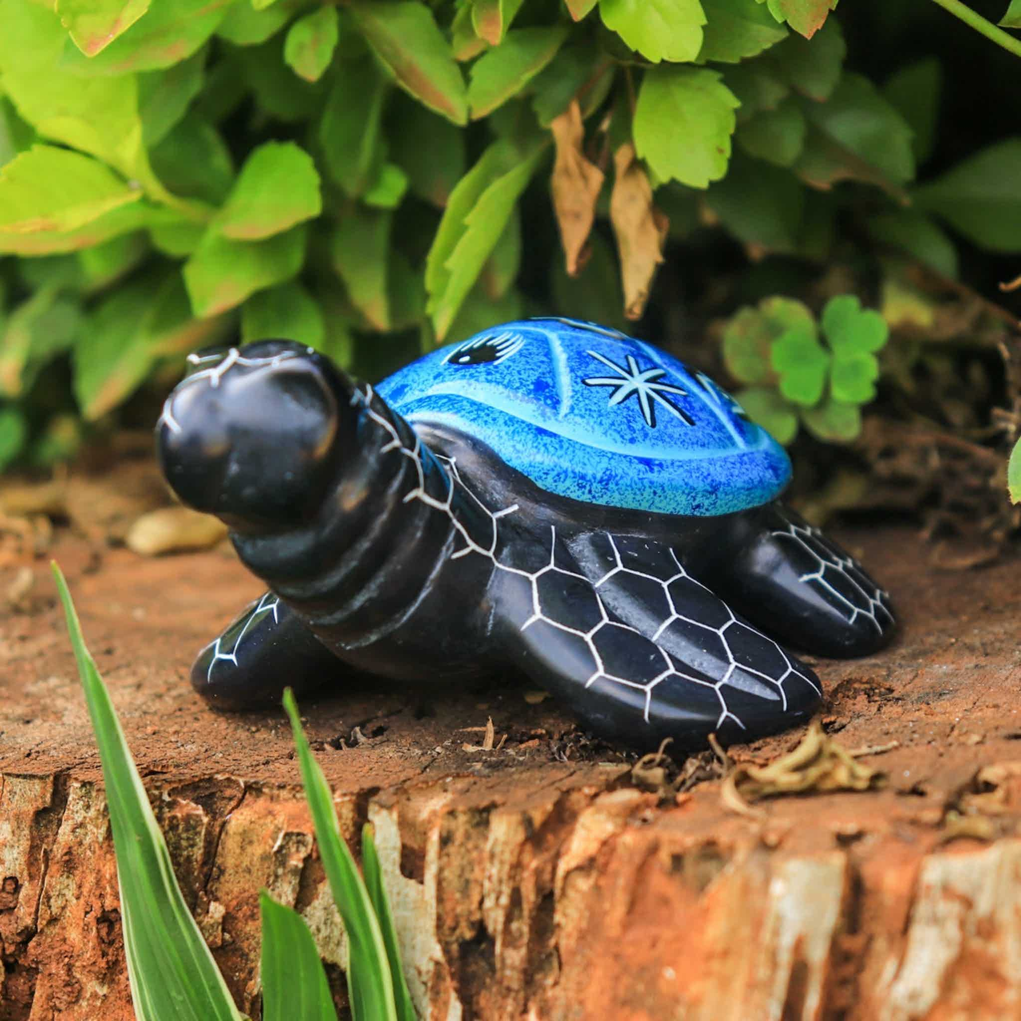 Soapstone Tortoise Light Blue