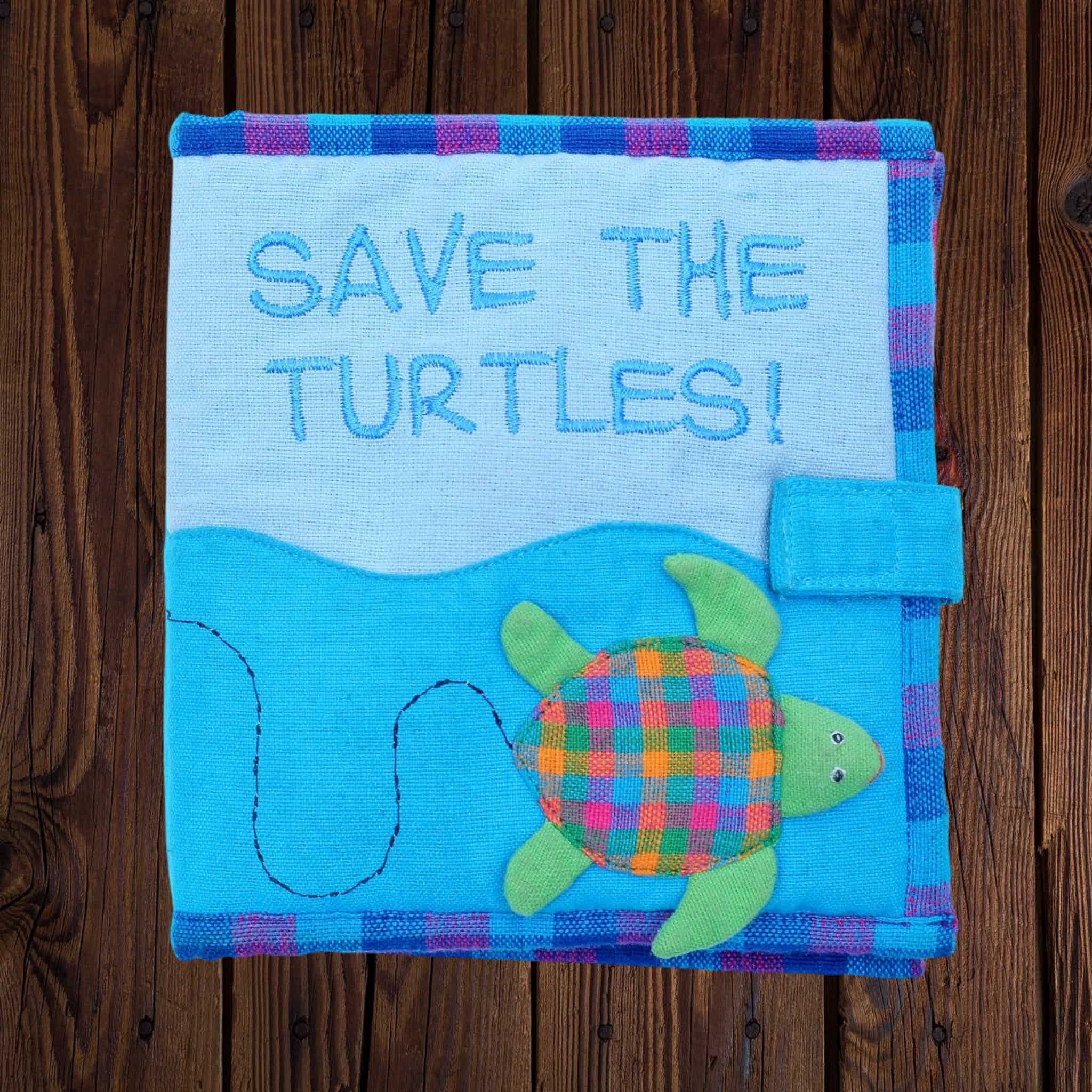 Fabric Kids Book - Save The Turtles