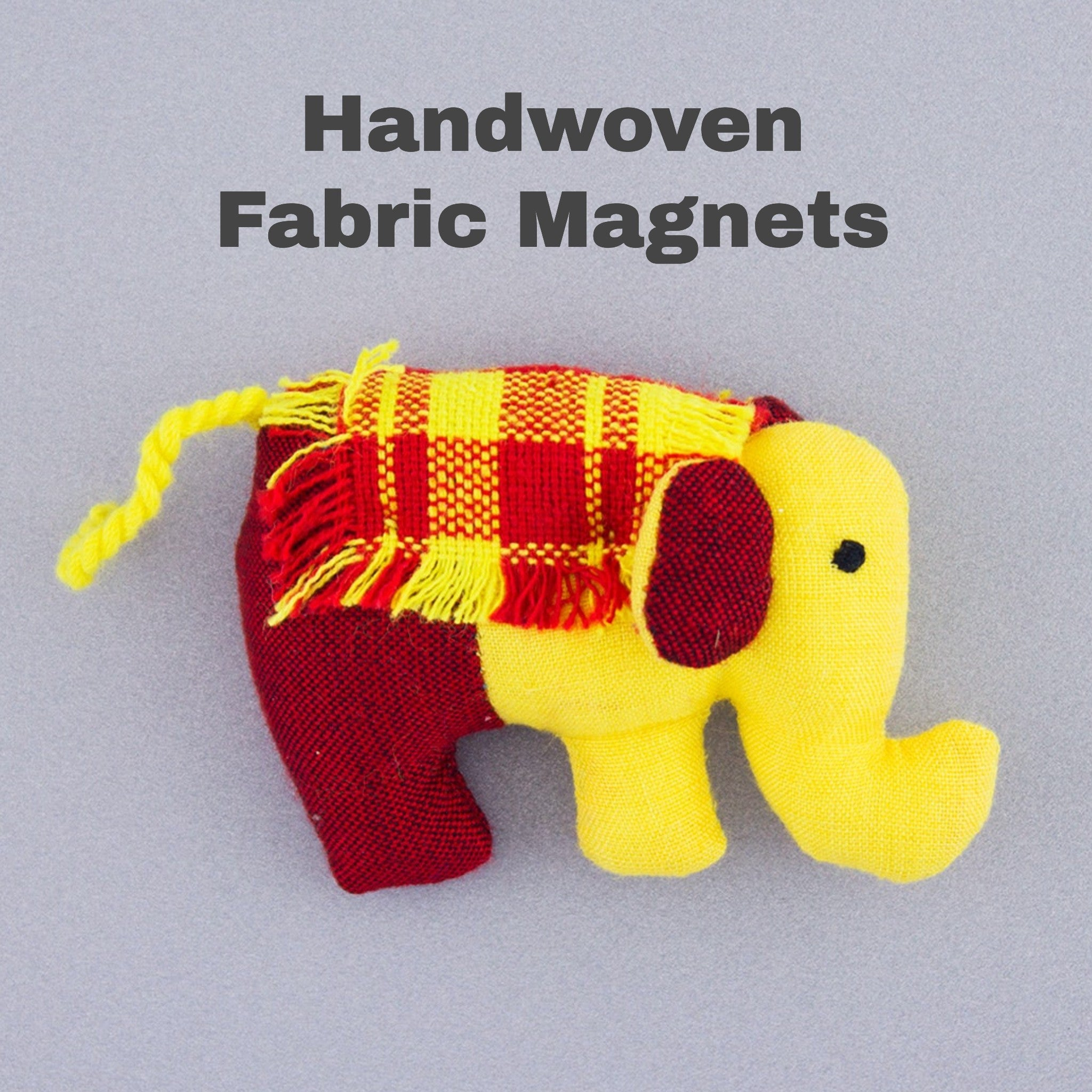 Assorted Fabric Cotton Plush Elephant Magnets