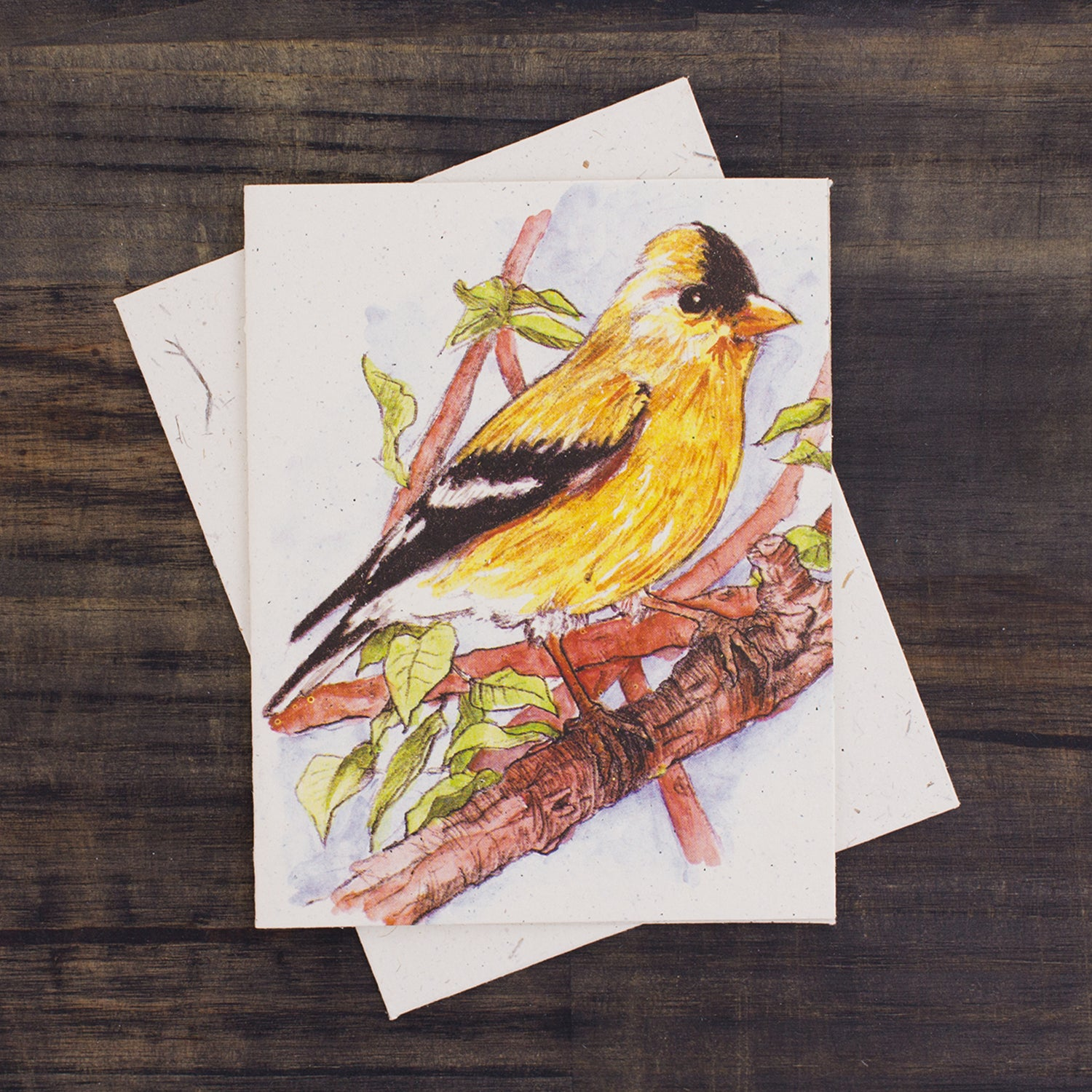 Single Greeting Card Goldfinch Watercolor