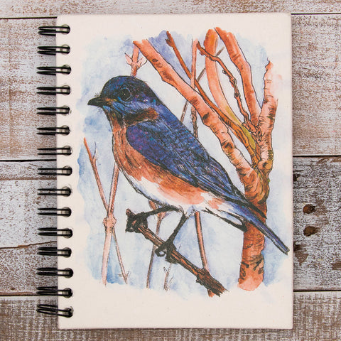 Large Notebook Bluebird Watercolor