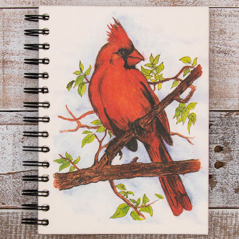 Large Notebook Cardinal Watercolor