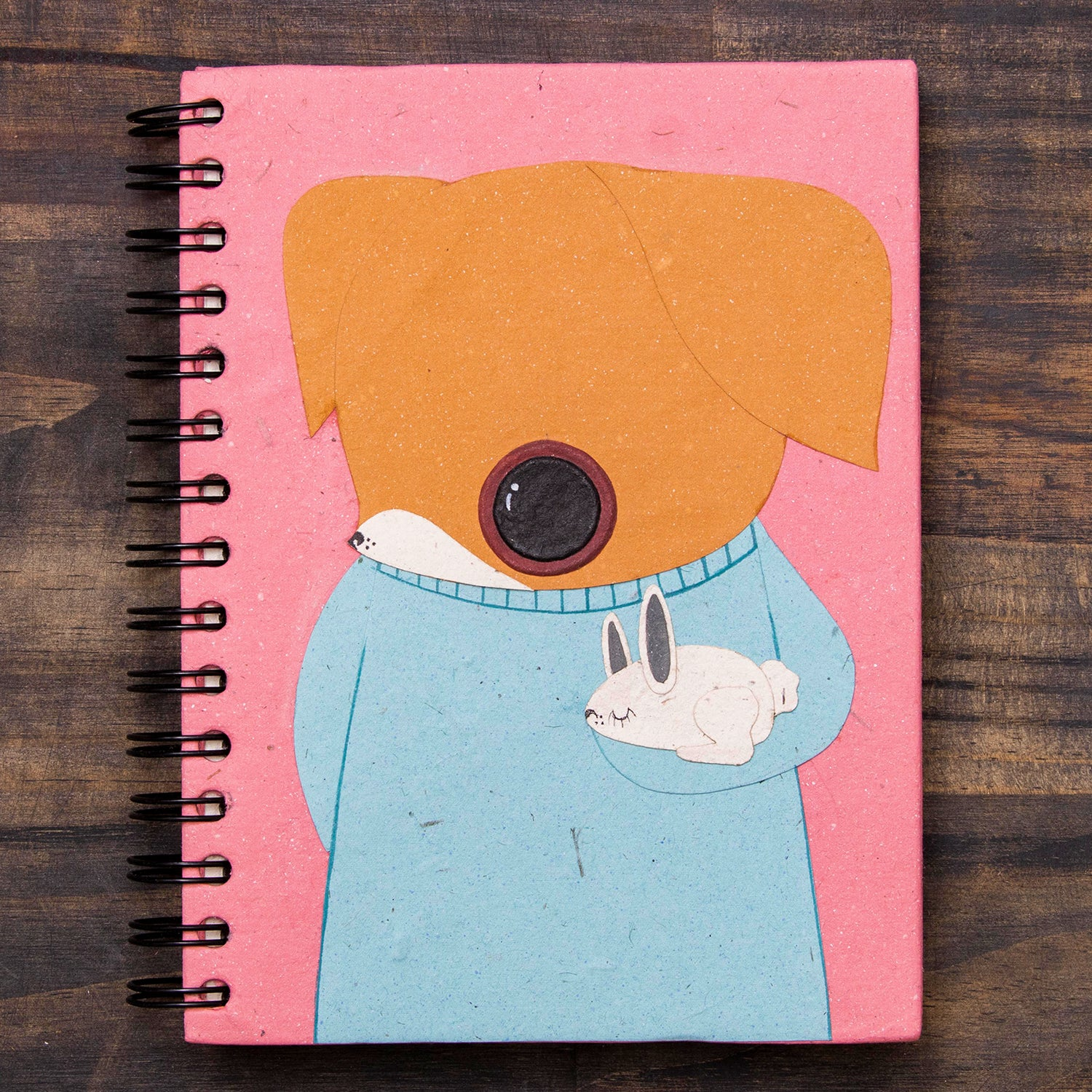 Large Notebook Chiquita the Chihuahua Pink