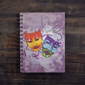 Large Notebook Comedy Tragedy (w)