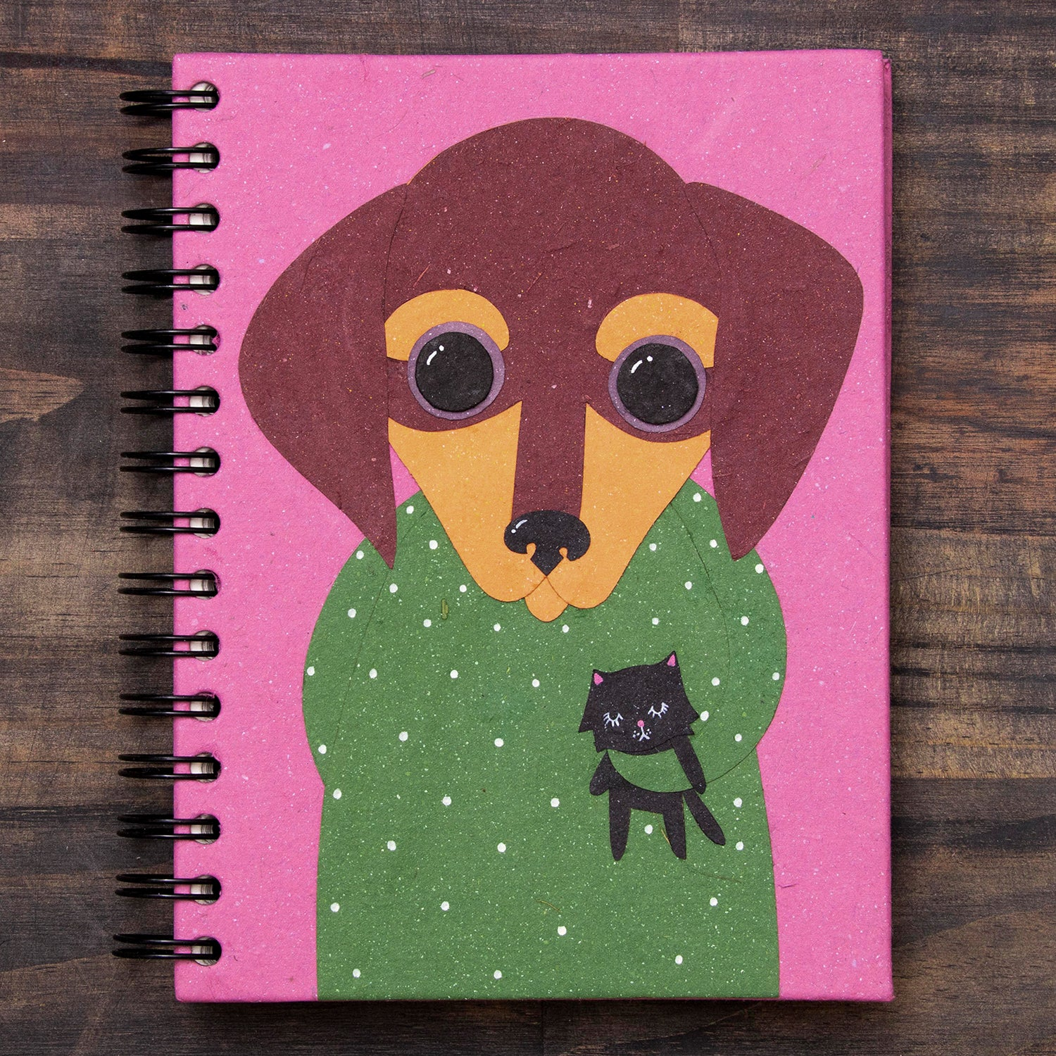 Large Notebook Danny the Dachshund Light Purple