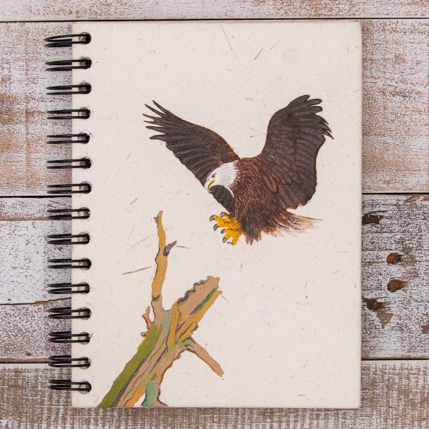 Large Notebook Eagle Natural White