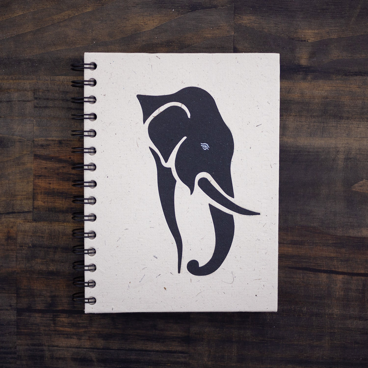Large Notebook Tusker Profile White Background