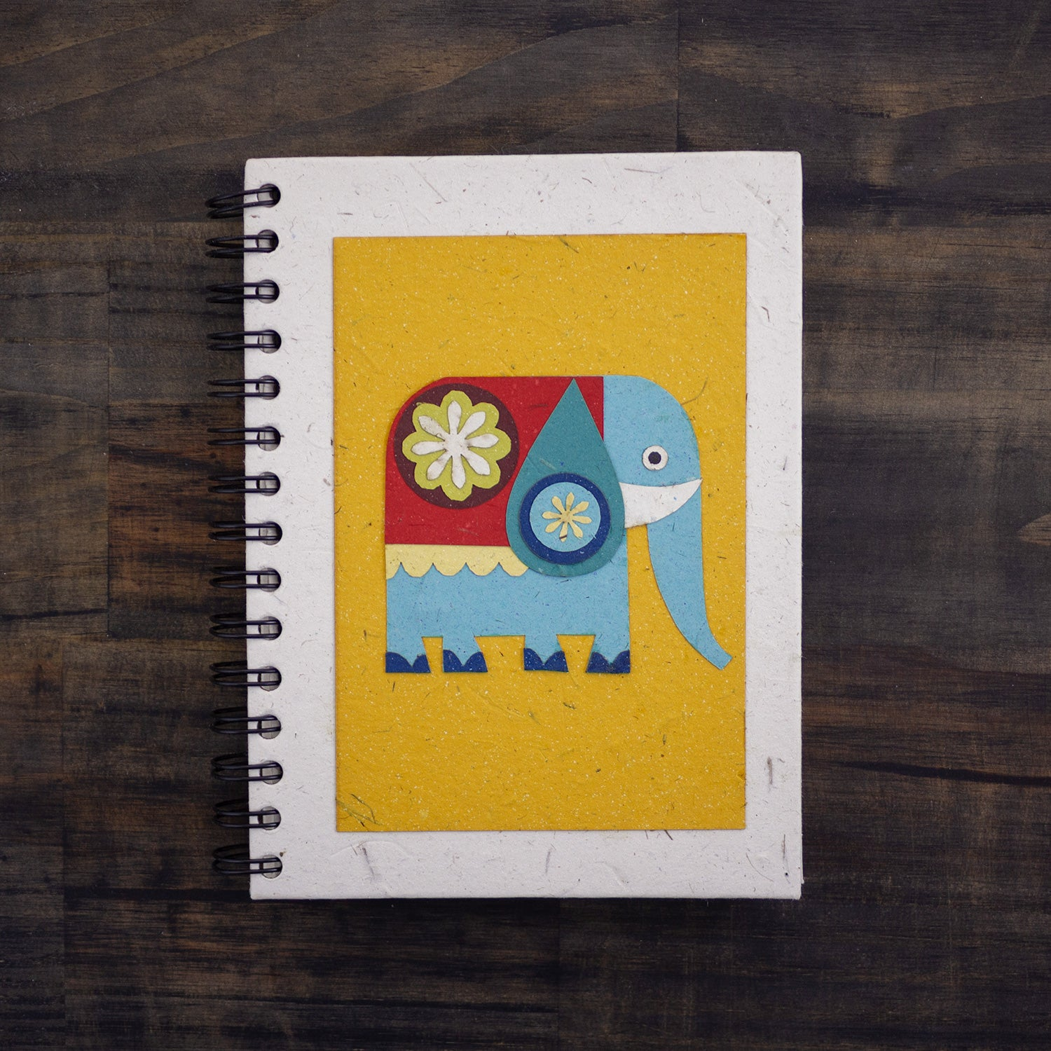 Large Notebook Paper Elephant Yellow