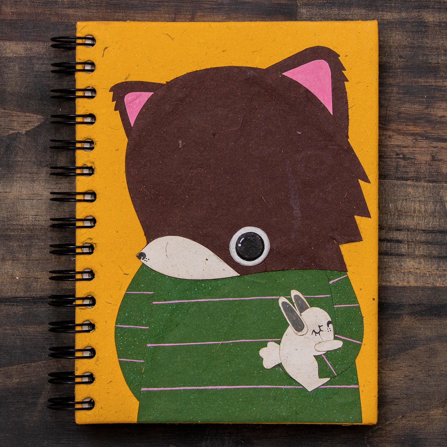 Large Notebook Freddy the Fox Yellow