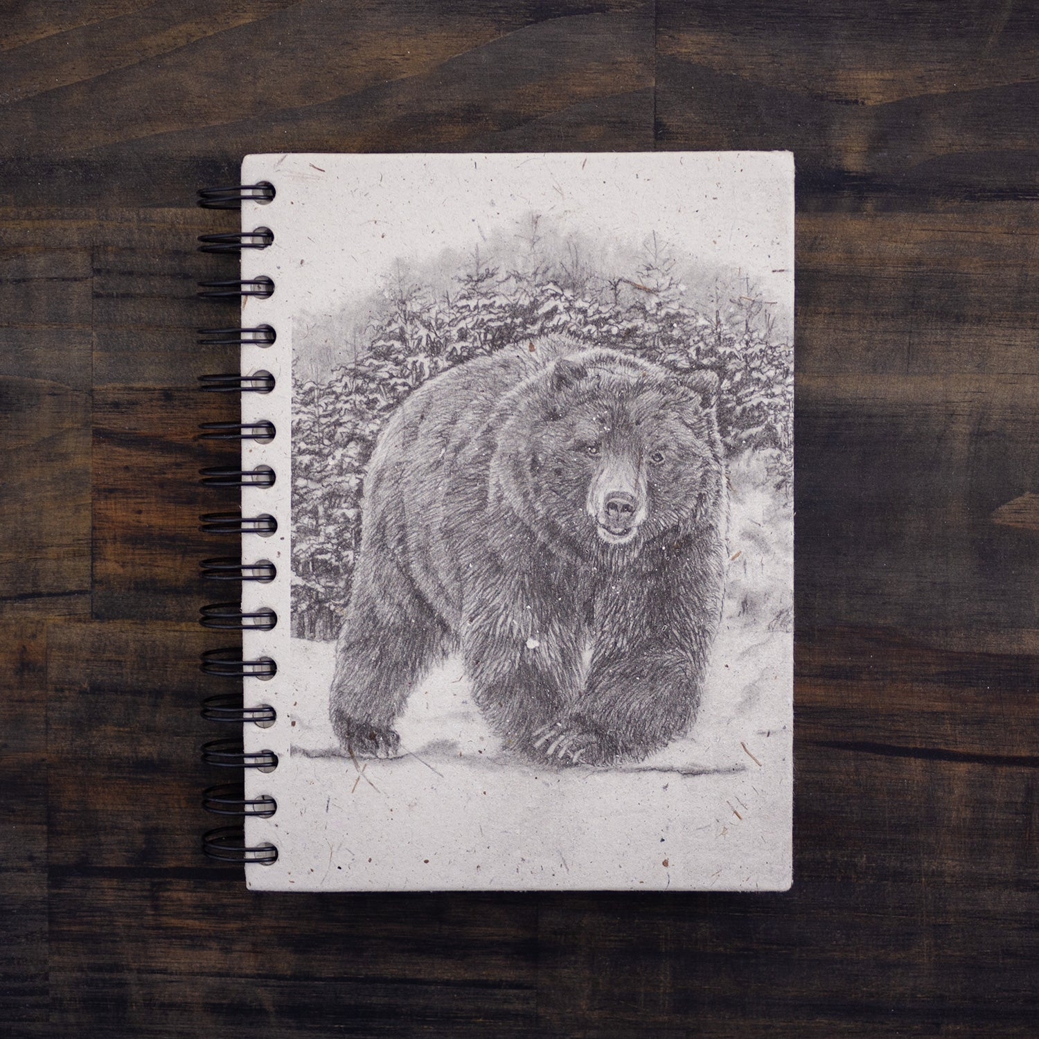 Large Notebook Grizzly Bear Sketch