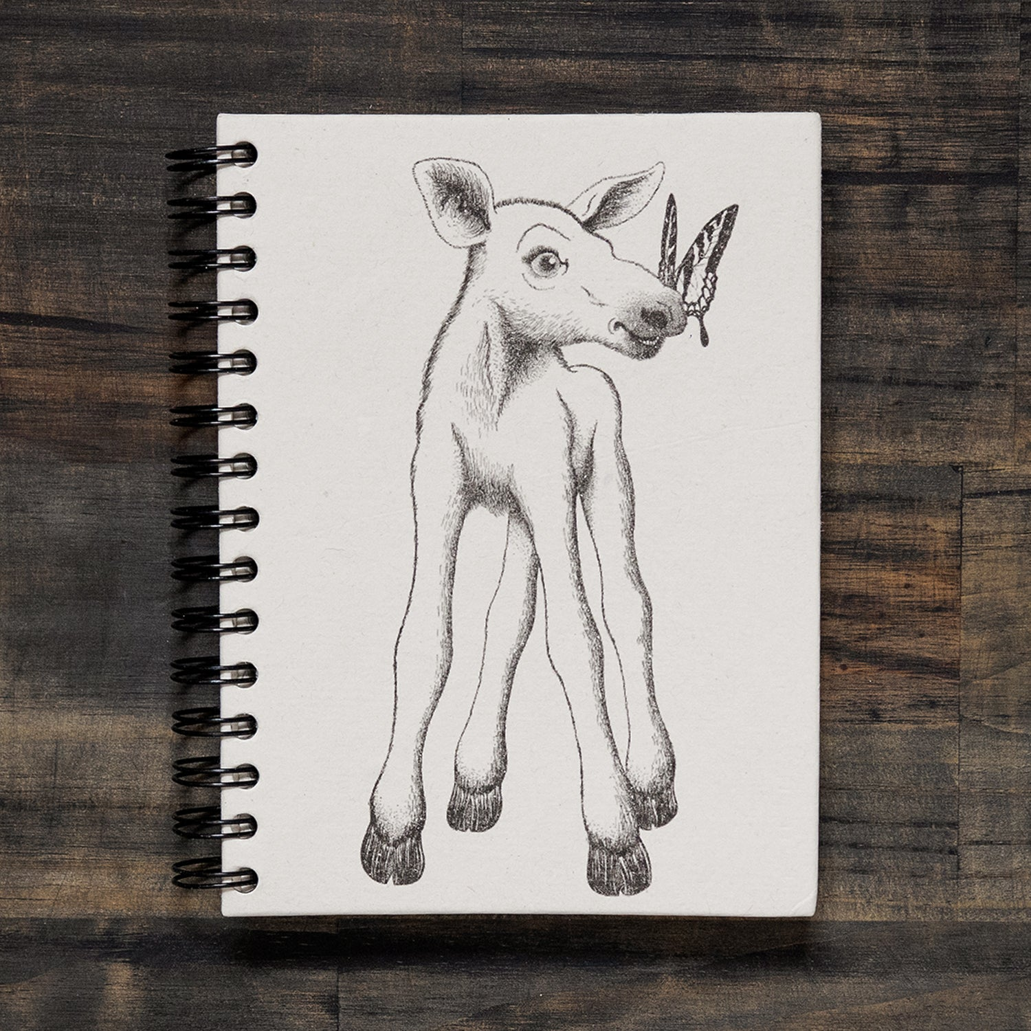 Large Notebook Baby Moose Sketch