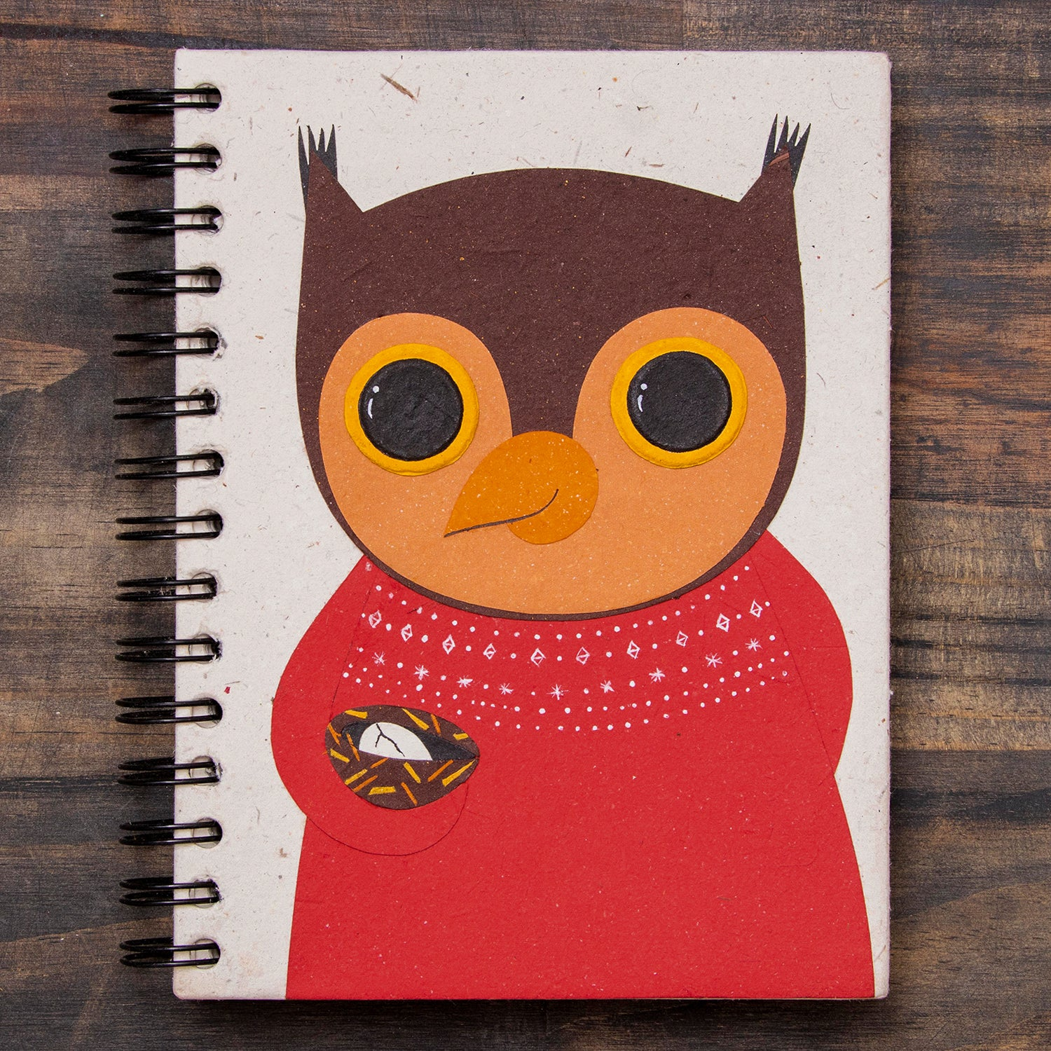 Large Notebook Oswald the Owl Natural White