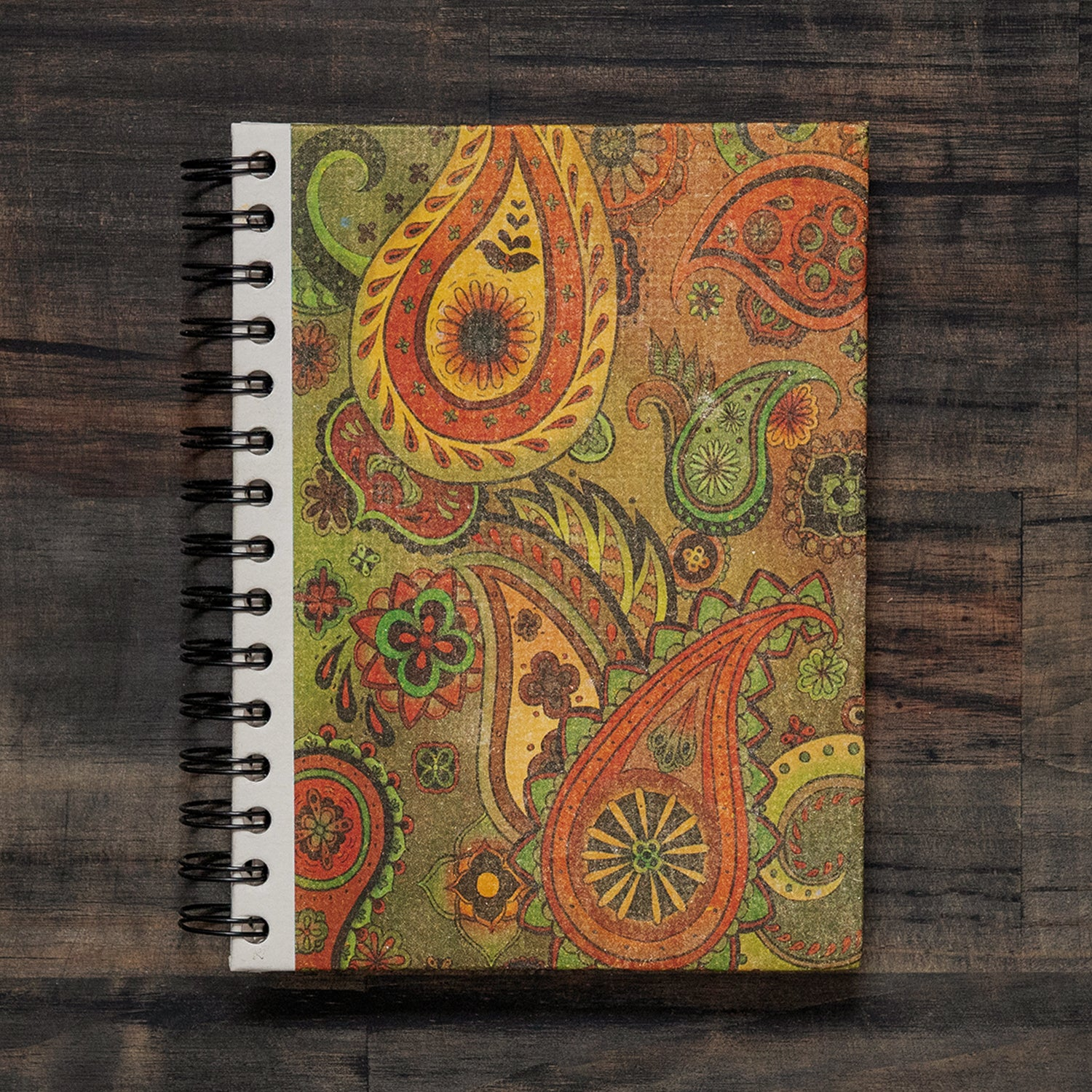 Large Notebook Paisley Yellow