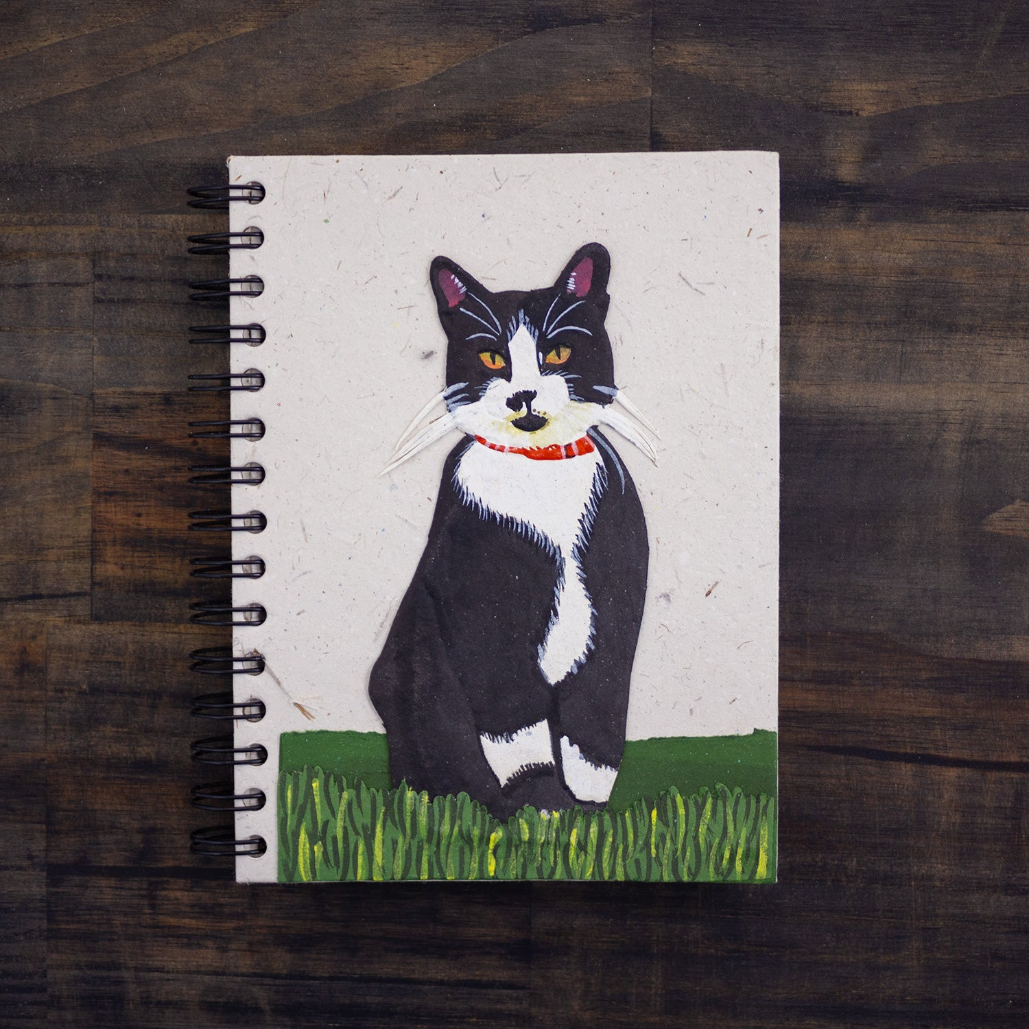 Large Notebook Tuxedo Cat Socks