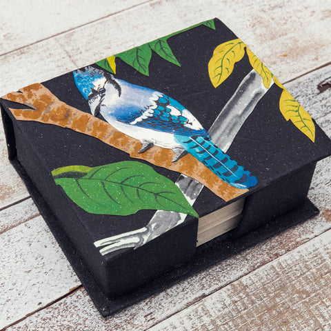 Blue Jay Note Box with Notes
