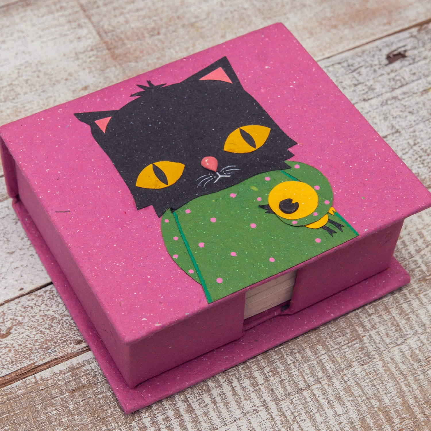 Note Box Buster the Black Cat Light Purple
