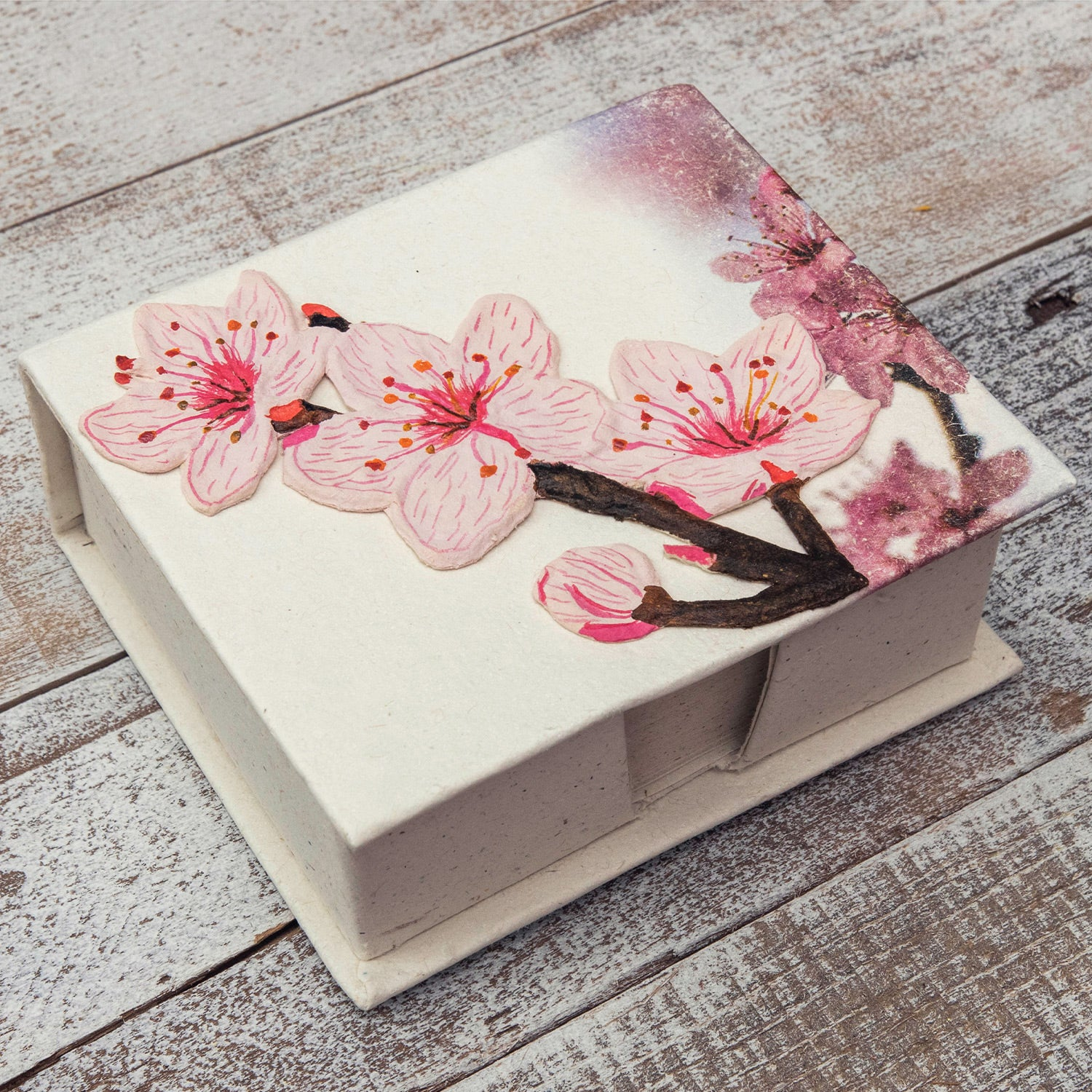 Note Box Cherry Blossoms Embellished Print