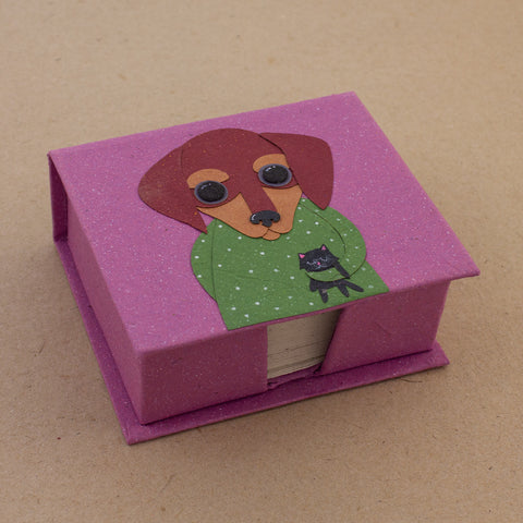 Note Box Danny the Dachshund Light Purple