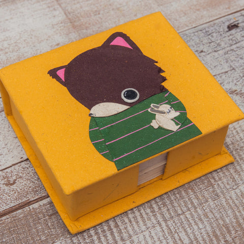 Note Box Freddy the Fox Yellow