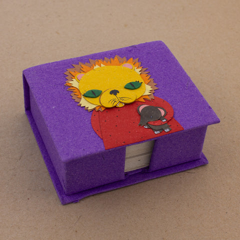 Note Box Leslie the Lion Purple